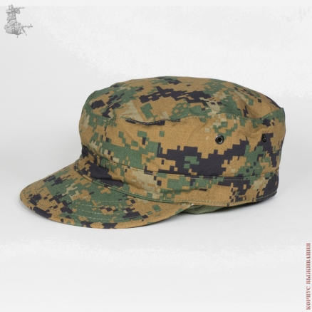 Combat cap double layers with 6 eyelets